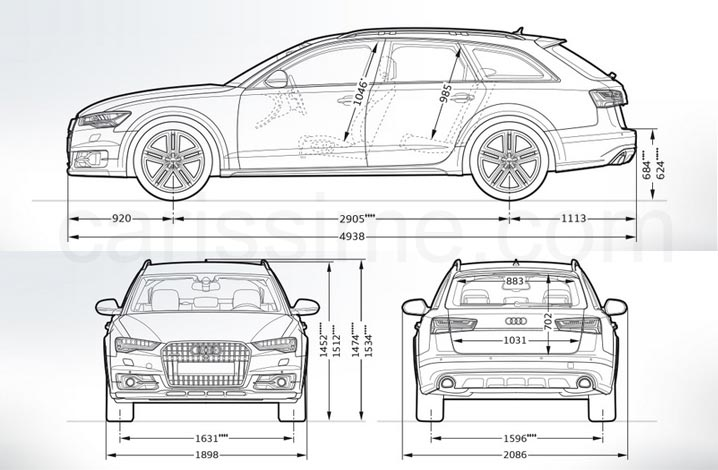 audi a6 allroad 3 fiche technique dimensions. Black Bedroom Furniture Sets. Home Design Ideas
