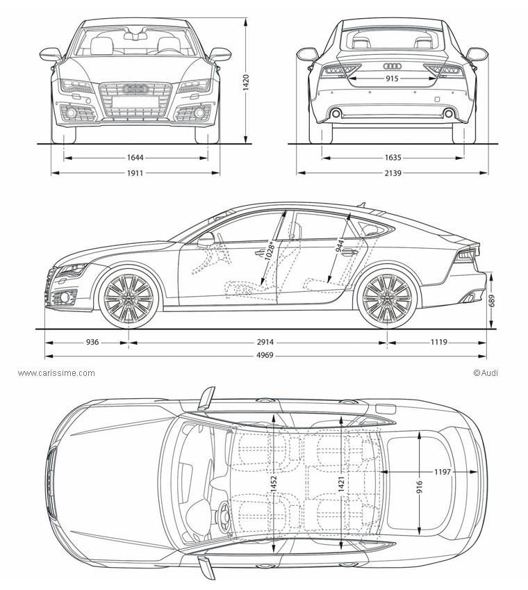 Audi A7 Sportback Voiture Audi A7 Sportback Fiche Technique
