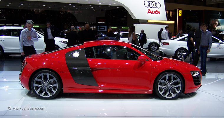 audi r8 v10 5 2 quattro salon de l 39 automobile geneve 2009. Black Bedroom Furniture Sets. Home Design Ideas