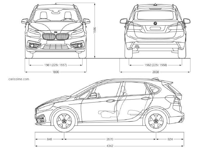 Bmw Serie 2 Active Tourer Fiche Technique Dimensions