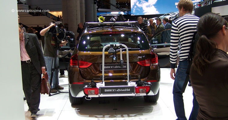 bmw x1 salon de l 39 automobile francfort 2009. Black Bedroom Furniture Sets. Home Design Ideas