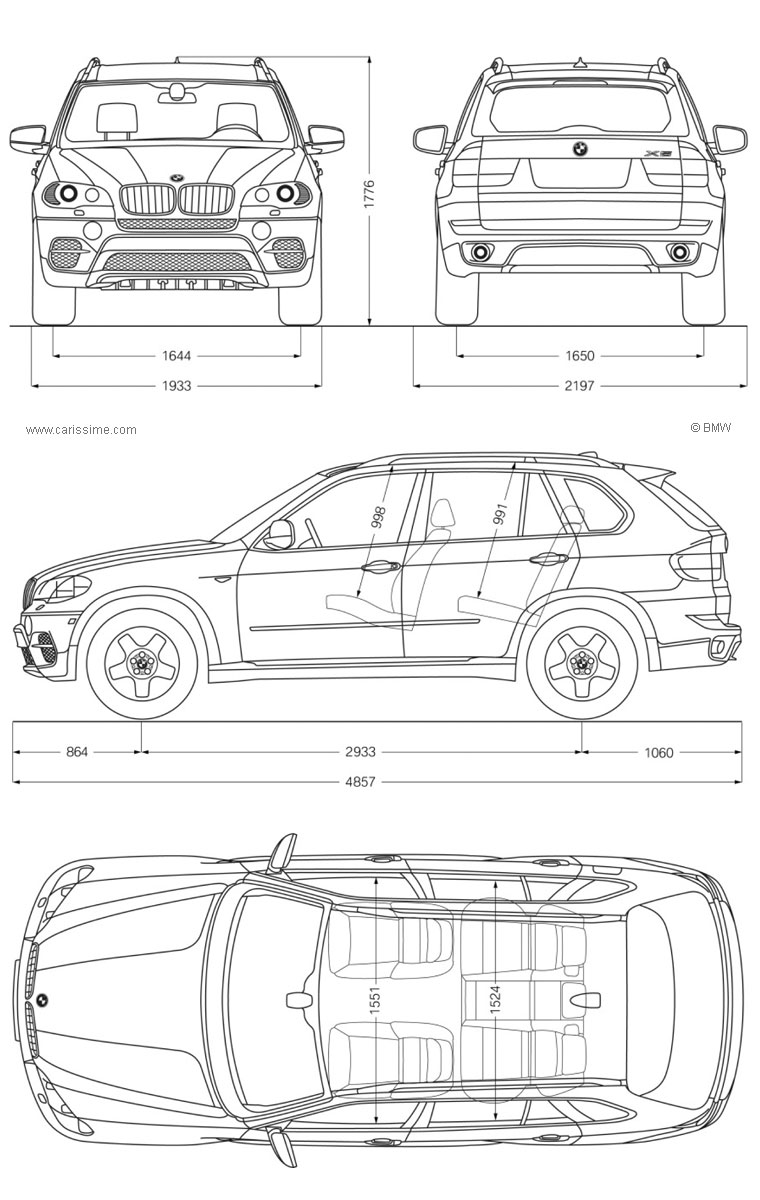 bmw x5 2 restylage 2010 fiche technique dimensions. Black Bedroom Furniture Sets. Home Design Ideas