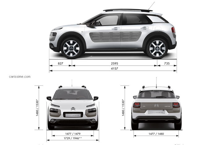 citroen c4 cactus fiche technique dimensions. Black Bedroom Furniture Sets. Home Design Ideas