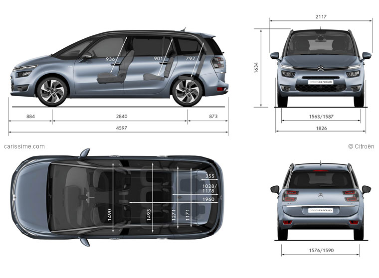 dimensions coffre grand c4 picasso ii c4 picasso citro n forum marques