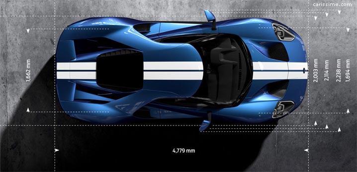 Dimensions Ford GT 2016 Supercar