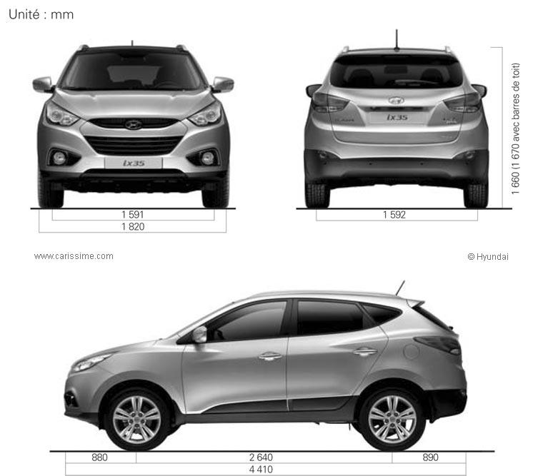 Hyundai Ix35 Fiche Technique Dimensions