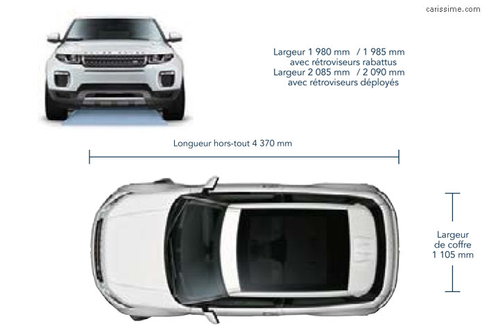 dimensions Land Range Rover Evoque 2015