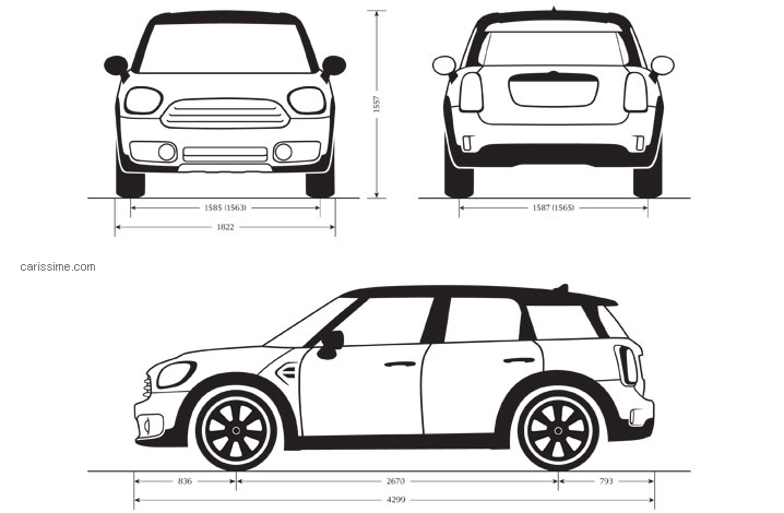 Dimensions MINI Countryman 2017