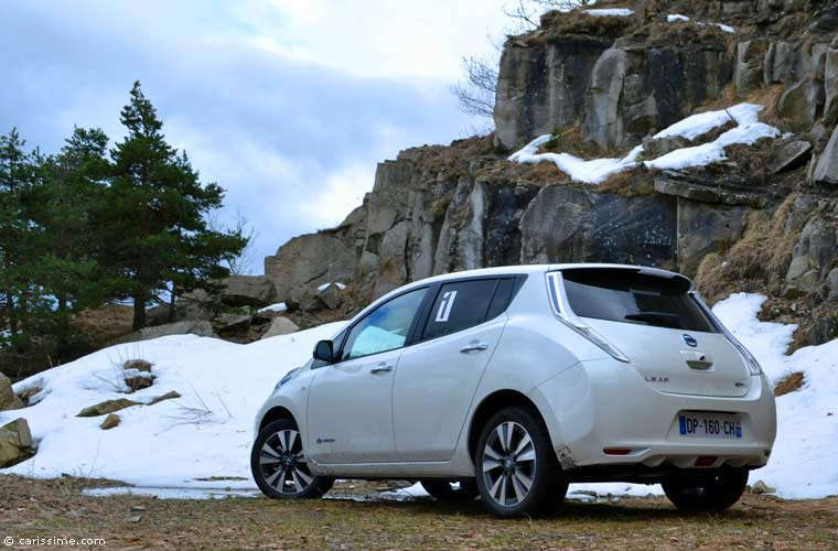 essai nissan leaf 2015 rallye electrique au turini carissime. Black Bedroom Furniture Sets. Home Design Ideas