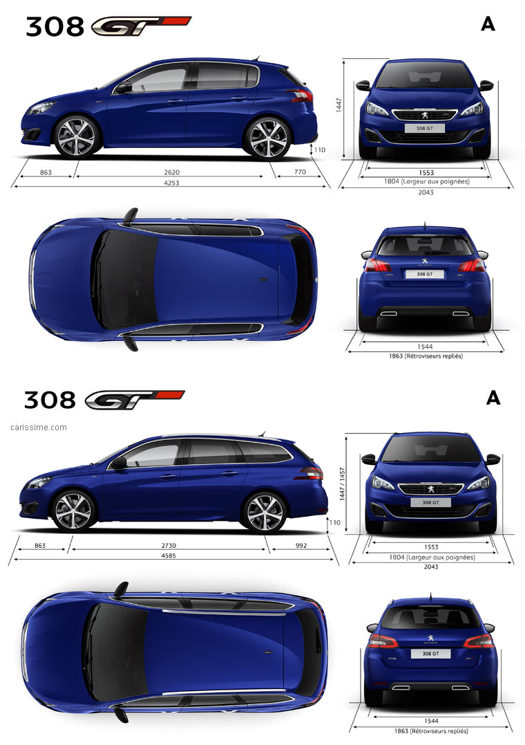 peugeot 308 gt 2015 fiche technique dimensions. Black Bedroom Furniture Sets. Home Design Ideas