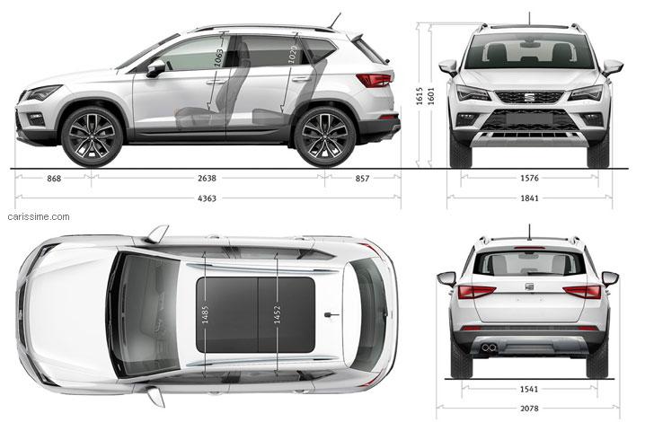 seat ateca 2016 carissime l 39 info automobile. Black Bedroom Furniture Sets. Home Design Ideas