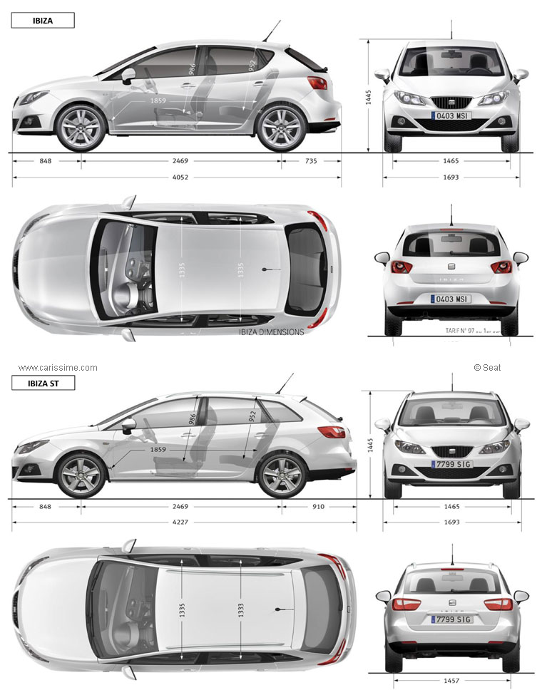 seat ibiza 2 fiche technique dimensions. Black Bedroom Furniture Sets. Home Design Ideas