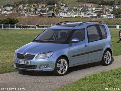 skoda roomster restylage 2010 voiture ludospace. Black Bedroom Furniture Sets. Home Design Ideas