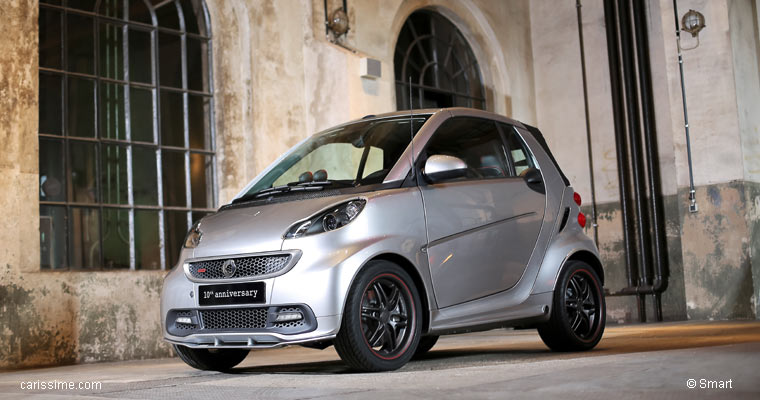 smart fortwo 2 brabus 10em anniversaire s rie sp ciale 2012. Black Bedroom Furniture Sets. Home Design Ideas