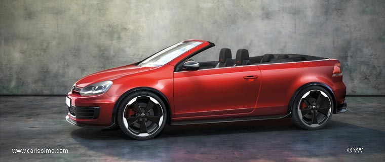 volkswagen golf 6 cabriolet r gti concept voiture. Black Bedroom Furniture Sets. Home Design Ideas