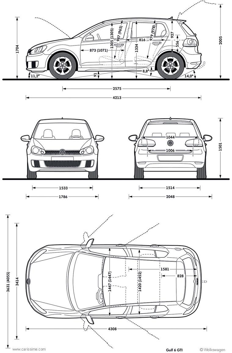 volkswagen golf gti 6 fiche technique dimensions. Black Bedroom Furniture Sets. Home Design Ideas
