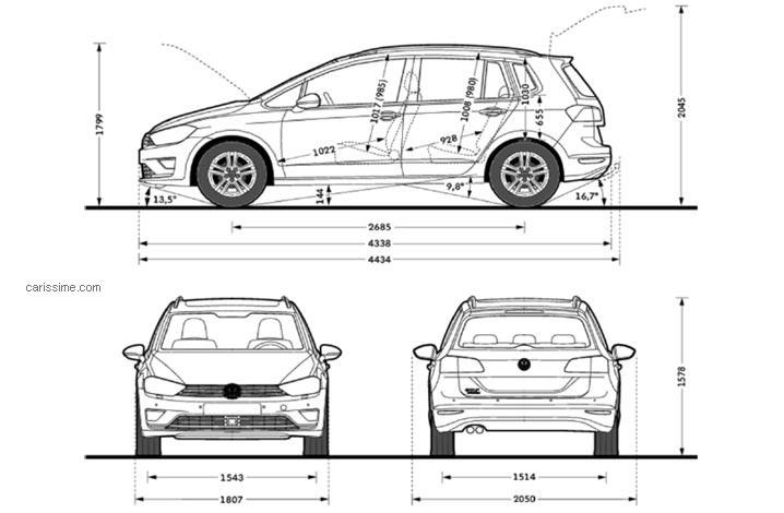 volkswagen golf 7 sportsvan carissime l 39 info automobile. Black Bedroom Furniture Sets. Home Design Ideas