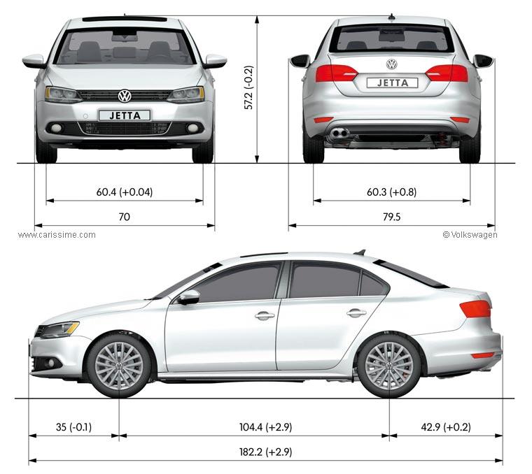 Volkswagen Jetta 4 2011 Fiche Technique Dimensions