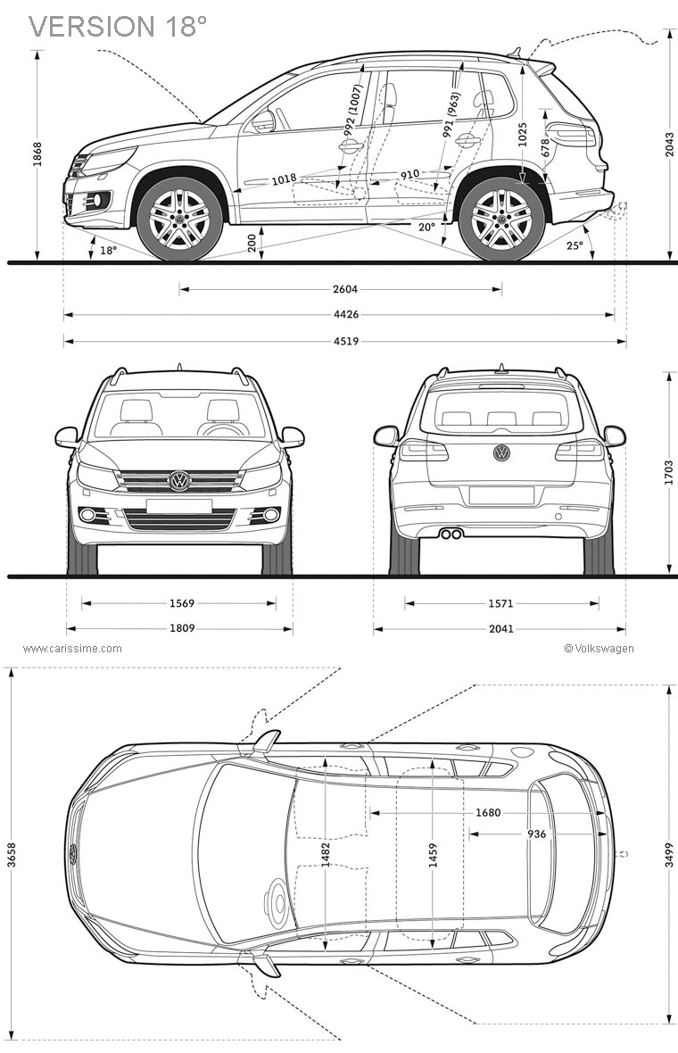 volkswagen tiguan restylage 2011 fiche technique dimensions. Black Bedroom Furniture Sets. Home Design Ideas