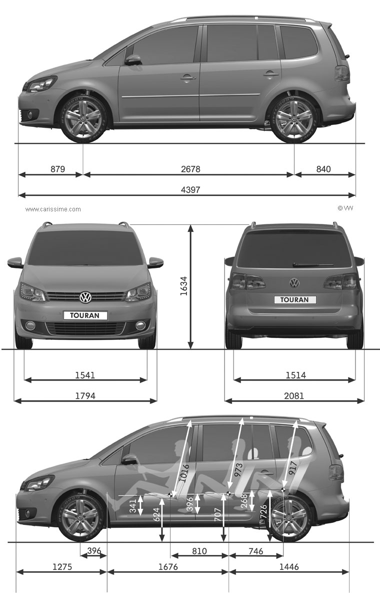 volkswagen touran restylage 2010 fiche technique dimensions. Black Bedroom Furniture Sets. Home Design Ideas